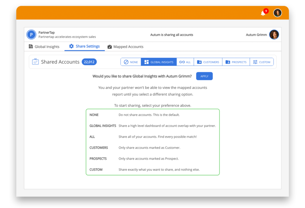 Securely Share Customer Account Data with this dashboard