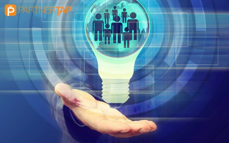 Hand Supporting a Lightbulb Full of Account Mapping Partners