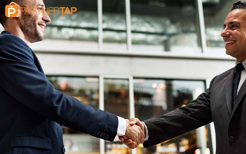 Partners Securely Sharing Customer account data and shaking hands