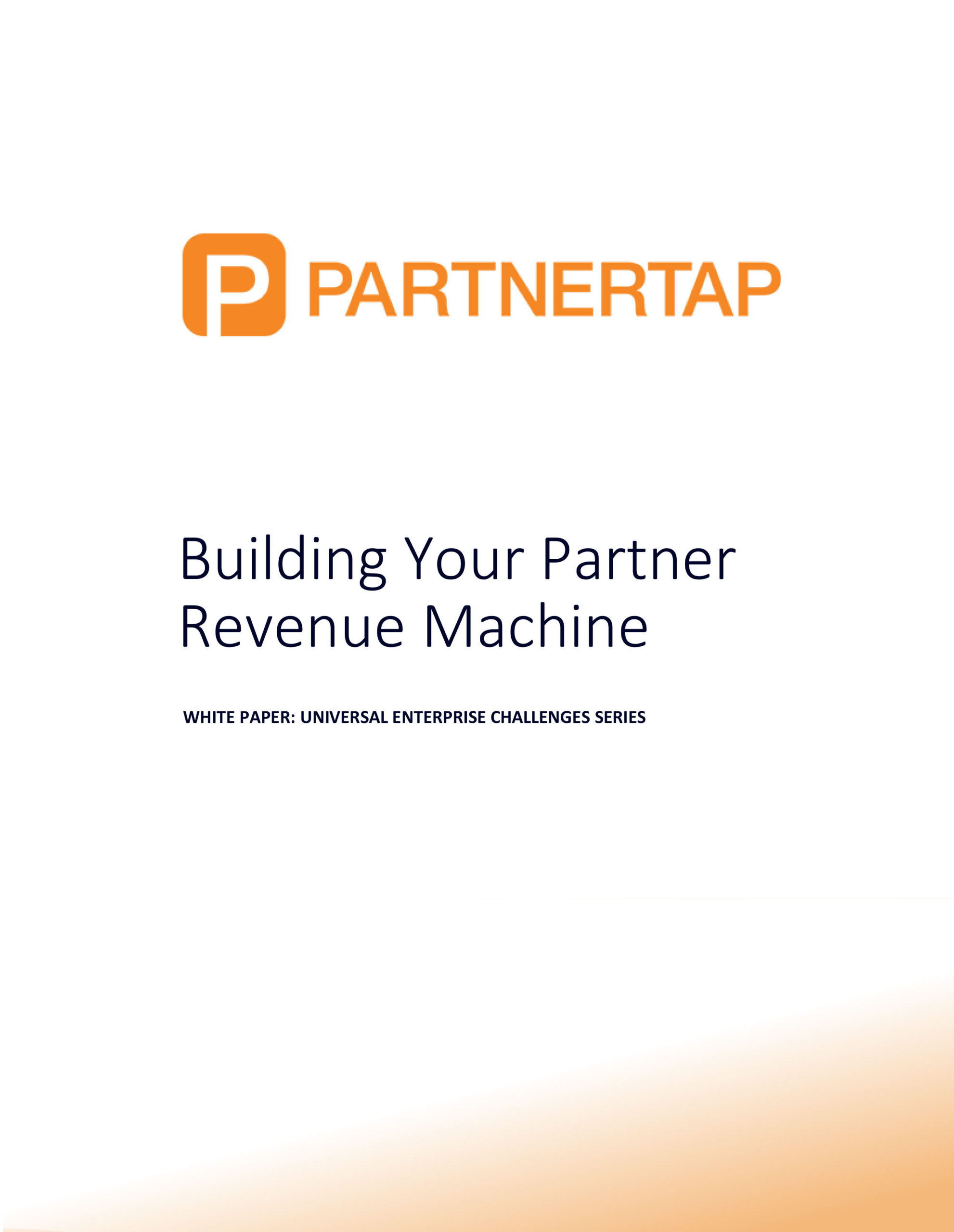 Cover image for building your partner revenue machine whitepaper